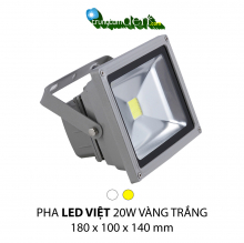 Đèn pha led  PHA LED 20W Trắng + Vàng