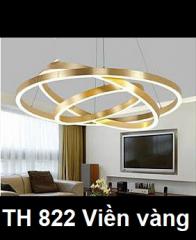 Đèn thả nghệ thuật LED TH 822 Viền vàng