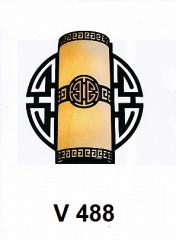 Đèn tường thủy tinh  V 488